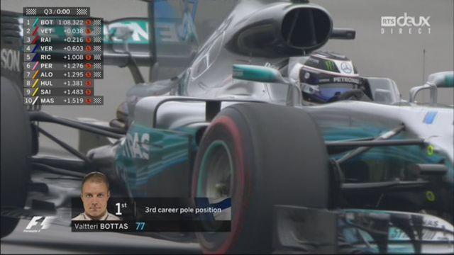 Q3: Bottas (FIN) en pôle devant Vettel (GER) et Raikkonen (FIN) [RTS]