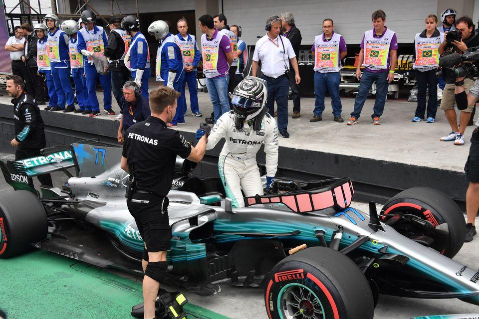 Valtteri Bottas a signé la troisième pole position de sa carrière. [Nelson Almeida - AFP]