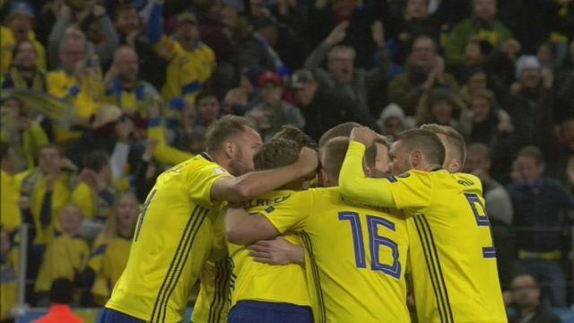 Barrages, Suède . Italie (1-0): la Suède s.impose et prend un option sur la qualification [RTS]