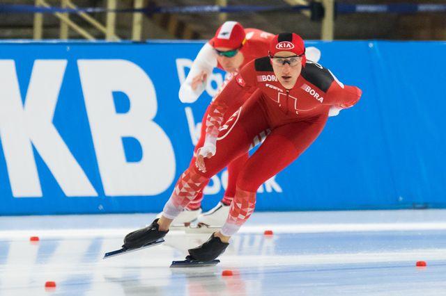 Livio Wenger devrait griffer la glace coréenne en février prochain. [Foto Olimpik / nurphoto - AFP]