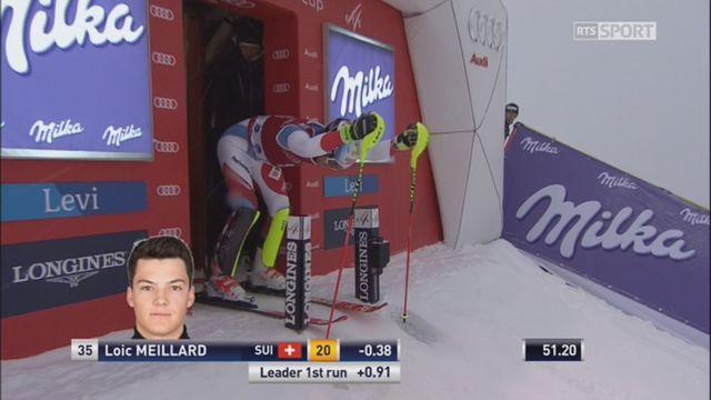 Levi (FIN), slalom 2e manche: Meillard (SUI) prend provisoirement la tête du classment [RTS]