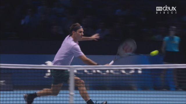 Groupe B, Federer (SUI) bat Sock (USA) 6-4 7-6, les plus beaux points du match [RTS]