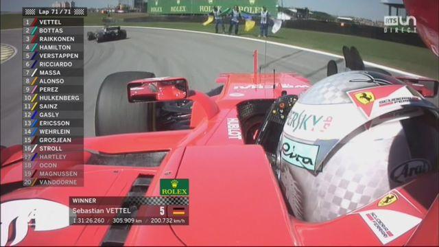 GP du Brésil, course: Vettel (GER) s'impose devant Bottas (FIN) 2e et Raikkonen (FIN) 3e [RTS]