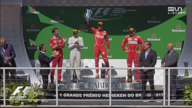 GP du Brésil, course: la remise des trophées [RTS]