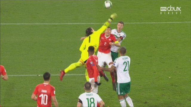 Barrages, Suisse - Irlande du Nord 0-0: 92e sauvetage sur la ligne de Ricardo Rodriguez [RTS]