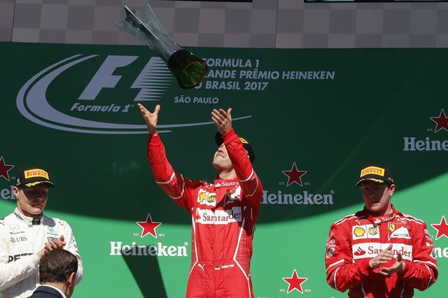 Vettel a fait tout juste pour s'imposer sur le circuit brésilien. [Sebastiao Moreira - Keystone]