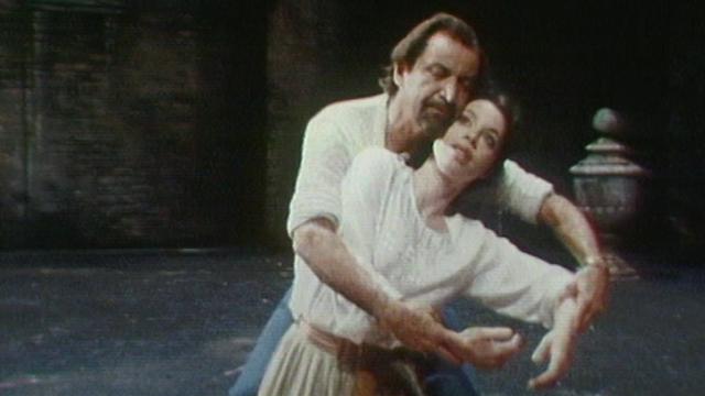 Maurice Béjart pendant les répétitions de Don Giovanni. [RTS]