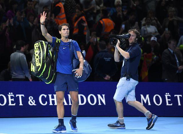 Nadal a été gêné dans ses déplacements. [Facundo Arrizabalaga - Keystone]