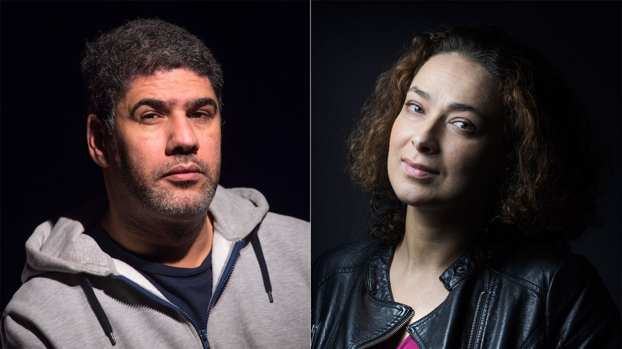 L'islamologue Rachid Benzine et la femme rabbin Delphine Horvilleur. [John Thys/Joël Saget - AFP]