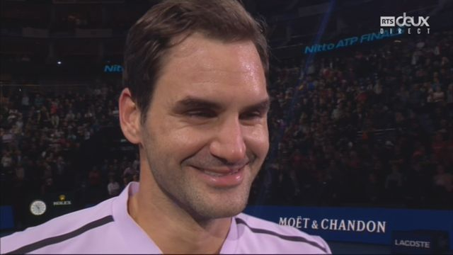 Groupe Becker, Roger Federer (SUI) - Alexander Zverev (GER) 7-6 5-7 6-1, interview de Federer [RTS]