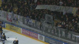 Hockey : l'ovation du public luganais pour Kienzle. [RTS]