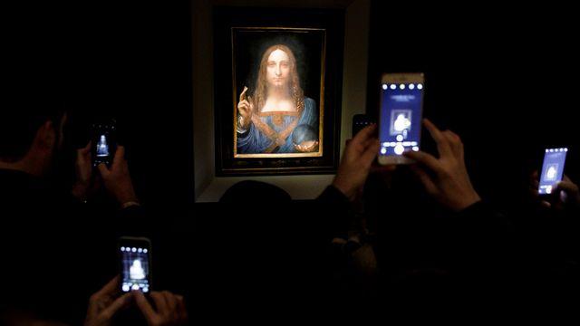 "La peinture ""Salvator Munti"", de Léonard de Vinci à New York le 15 novembre 2017. [Justin Lane - Keystone]"