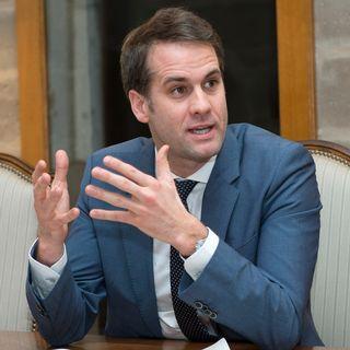 Le conseiller d'Etat genevois Antonio Hodgers, en charge du Département de l'aménagement, du logement et de l'énergie (DALE). [Martial Trezzini - Keystone]