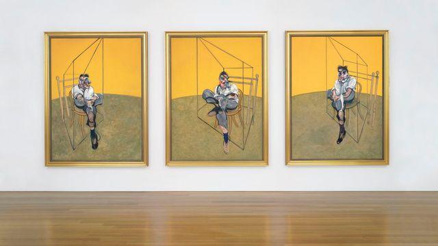 """L'oeuvre """"Trois études de Lucian Freud"""" du peintre Francis Bacon, estimée à 85 millions de dollars, a été vendue en novembre 2013 à New York pour 142,4 millions de dollars. [EPA - Christie's' handout - Keystone]"""