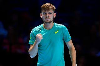 Goffin rejoint Federer en demi-finales du Masters. [Will Oliver - Keystone]