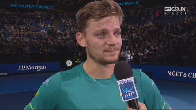 Groupe Sampras, D. Thiem (AUT) battu par D. Goffin (BEL) 4-6 1-6: l'avis de David Goffin sur sa demi-finale contre Federer [RTS]
