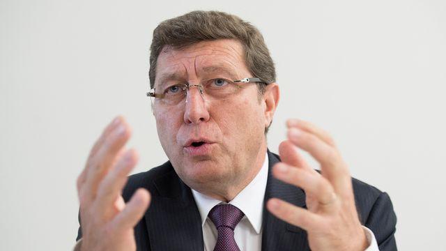 Le conseiller d'Etat MCG Mauro Poggia dirige le Département de l'Emploi, des Affaires Sociales et de la Santé (DEAS). [Anthony Anex - Keystone]