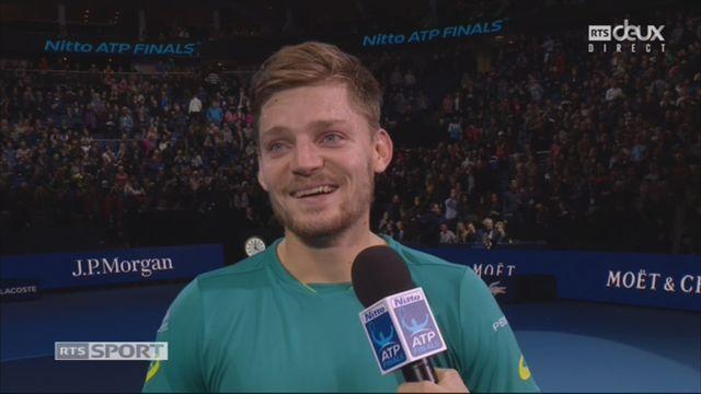 Demi-finale: R. Federer (SUI) battu par D. Goffin (BEL) 2-6 6-3 6-4: l'interview du Belge [RTS]