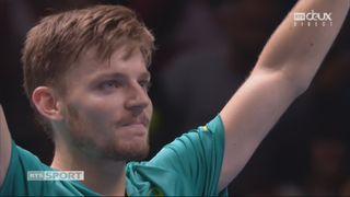 Demi-finale: R. Federer (SUI) battu par D. Goffin (BEL) 2-6 6-3 6-4 [RTS]