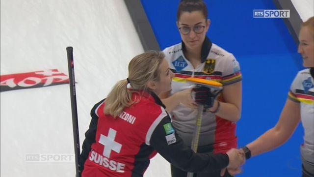 Championnats d'Europe, tour préliminaire dames: Suisse - Allemagne 8-5 [RTS]
