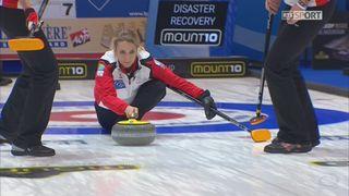 Championnats d'Europe, tour préliminaire dames: Russie - Suisse 7-8 [RTS]