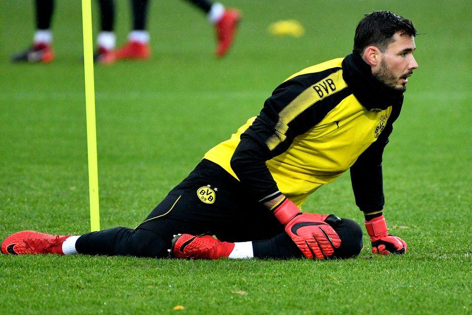 Le gardien bernois Roman Bürki et le Borussia ne sont pas au mieux. [Sascha Steinbach - Keystone]