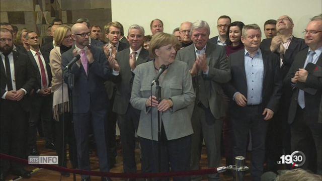 Allemagne: explications sur l'échec d'Angela Merkel [RTS]