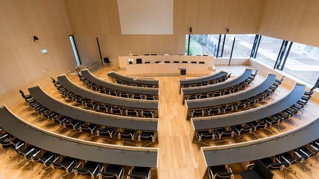 Nouvelle salle du parlement vaudois inaugurée en 2017. [Cyril Zingaro - Keystone]