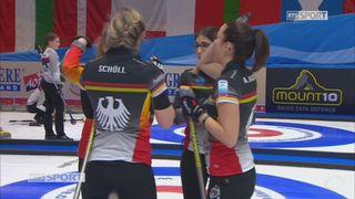 Championnats d'Europe, tour préliminaire dames: Allemagne - Danemark 11-4 [RTS]