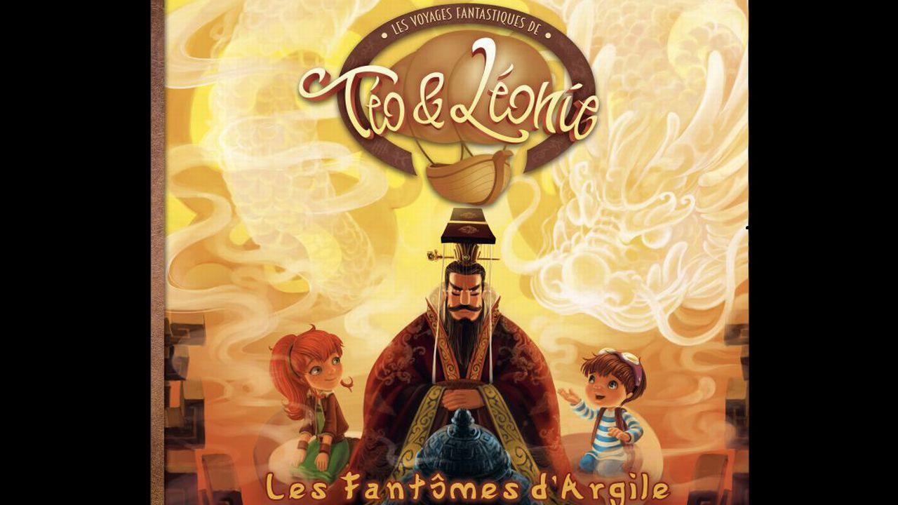 """La couverture du livre """"Les fantômes d'Argile"""". Le tome 5 des voyages fantastiques de Téo et Léonie. [Les Voyages Fantastiques de Téo & Léonie]"""