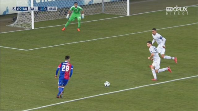 Ligue des Champions, Gr. A, FC Bâle - Manchester United (1-0): Lang 89e [RTS]
