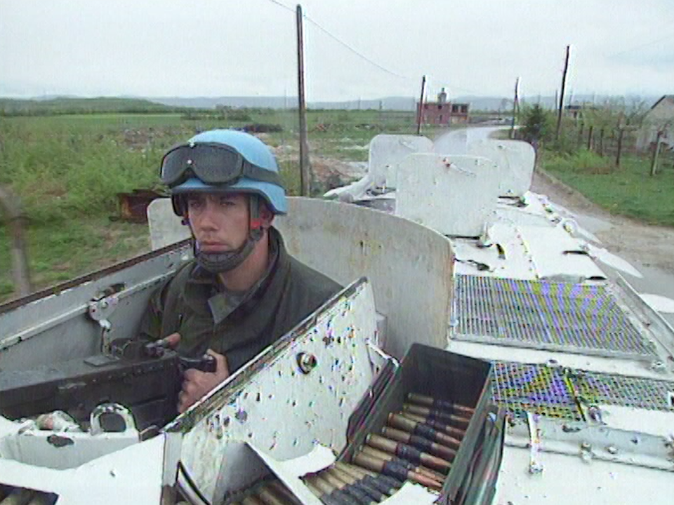 Casque bleu en Bosnie en 1994. [RTS]