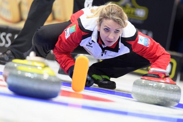 Silvana Tirinzoni n'a pas réussi à emmener les Suissesses en finale. [Gian Ehrenzeller - Keystone]