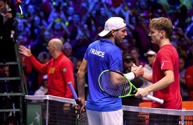 David Goffin avait mis la Belgique sur de bons rails en battant Lucas Pouille lors du 1er simple. [Philippe Huguen - AFP]