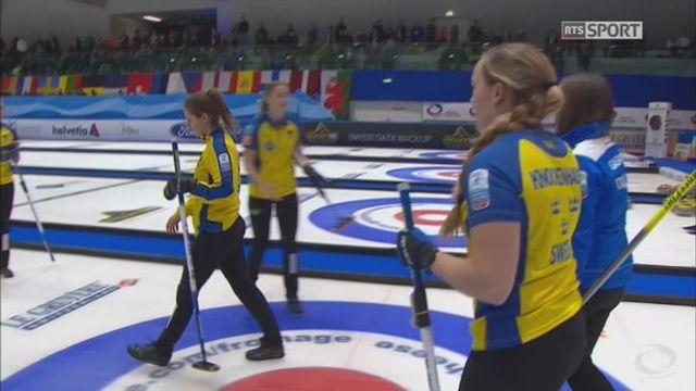 Championnats d'Europe,finale dames : Suède – Italie 7-3 [RTS]