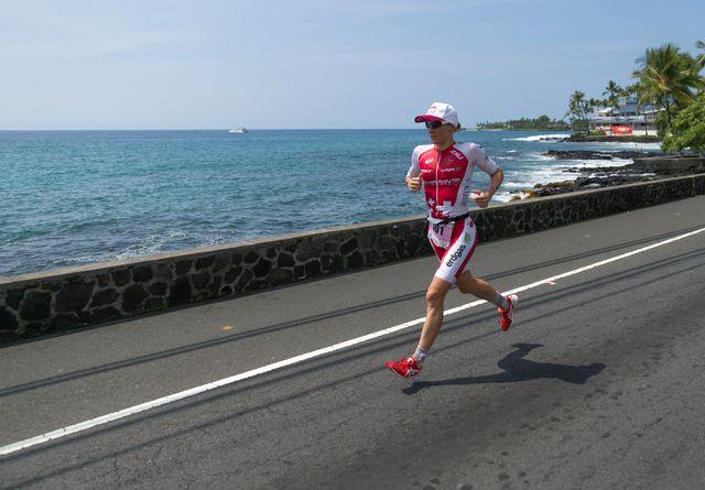 Daniela Ryf a craqué dans la course à pied. [Marco Garcia - Keystone]