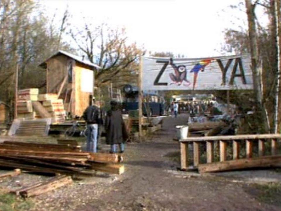 Le pays libre de Zaffaraya à Berne en 1987. [RTS]
