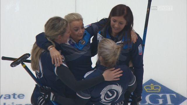 Championnats d'Europe, finale dames: Suède – Ecosse 3-6: l'Ecosse est championne d'Europe [RTS]