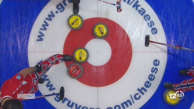 Championnats d'Europe de curling à St-Gall: les joueurs de Genève ont battu la Norvège 6 à 5 [RTS]