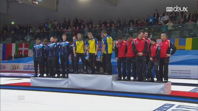 Championnats d'Europe de curling à St-Gall: la Suède gagne l'or, la Suisse se contente du bronze [RTS]