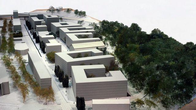 "Maquette du futur quartier de ""Greencity"" [Vogt Landschaftarchitekten - Keystone]"