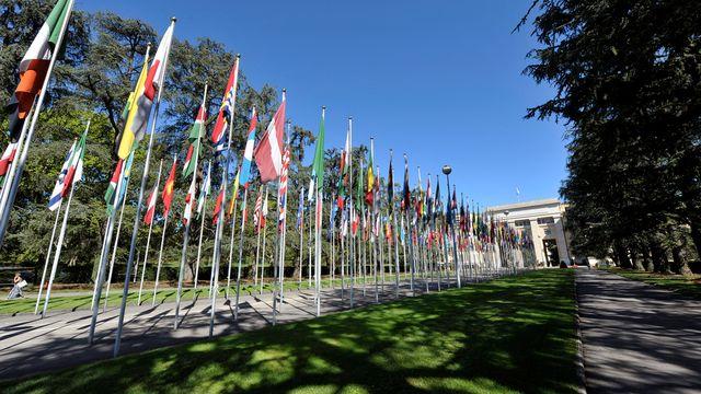 La délégation de Damas est arrivée à Genève pour les négociations. [Martial Trezzini - Keystone]