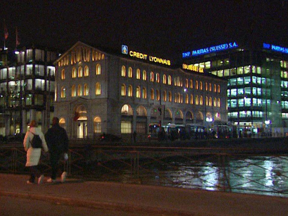 Genève, une place financière. [RTS]