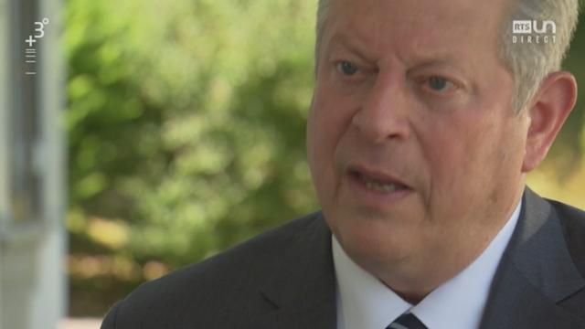 Le combat d'Al Gore pour le climat, interview (2-2) [RTS]