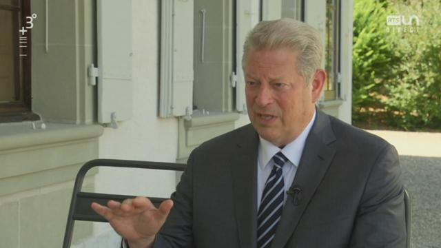 Le combat d'Al Gore pour le climat, interview (1-2) [RTS]