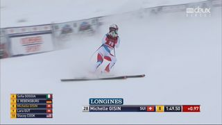 Lake Louise (CAN), descente dames: Michelle Gisin (SUI) [RTS]