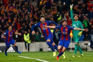 "La ""remontada"" du Barça aura marqué le mois de mars 207. [Quique Garcia - Keystone]"