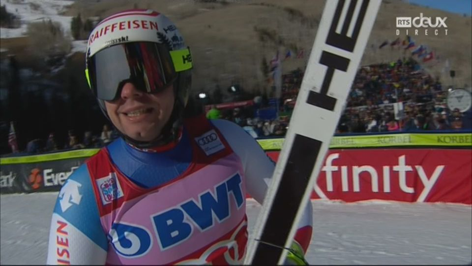 Beaver Creek (USA), Descente messieurs: Feuz (SUI) termine 2e [RTS]