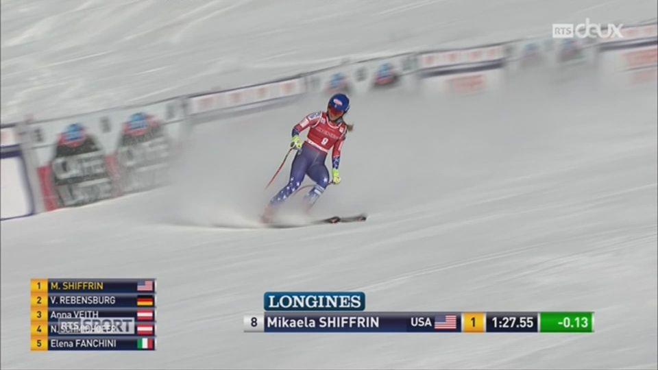 Ski-Descente dame de Lake Louise: Michelle Gisin sur le podium derrière Mikaela Shiffrin et Viktoria Rebensburg [RTS]
