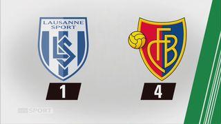 Lausanne-Sport - Bâle (1-4): tous les buts du week-end [RTS]